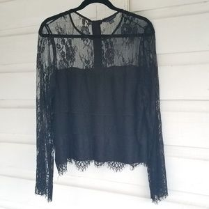 American Eagle| NEW Black Lace Top Size XXL
